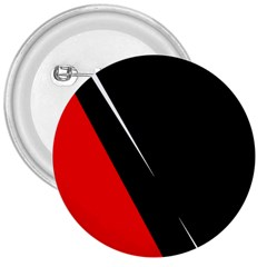 Black And Red Design 3  Buttons by Valentinaart