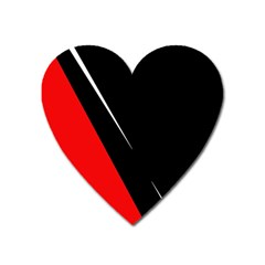 Black And Red Design Heart Magnet by Valentinaart
