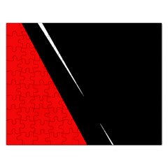 Black And Red Design Rectangular Jigsaw Puzzl by Valentinaart