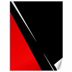 Black And Red Design Canvas 36  X 48   by Valentinaart