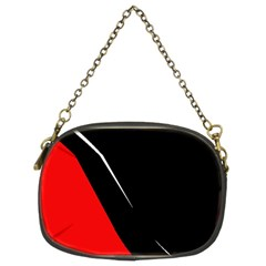 Black And Red Design Chain Purses (two Sides)  by Valentinaart