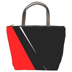 Black And Red Design Bucket Bags by Valentinaart