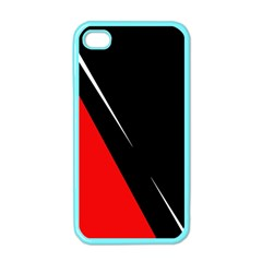 Black And Red Design Apple Iphone 4 Case (color) by Valentinaart