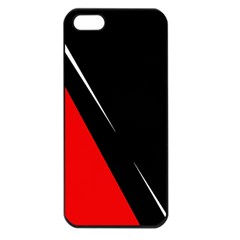 Black And Red Design Apple Iphone 5 Seamless Case (black) by Valentinaart