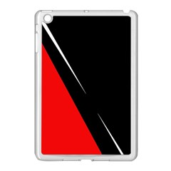 Black And Red Design Apple Ipad Mini Case (white) by Valentinaart