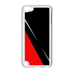 Black And Red Design Apple Ipod Touch 5 Case (white) by Valentinaart