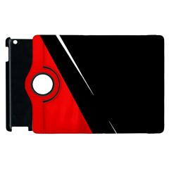 Black And Red Design Apple Ipad 2 Flip 360 Case by Valentinaart