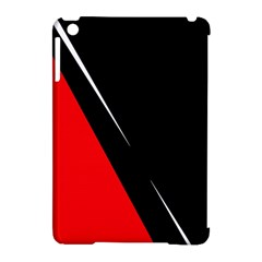 Black And Red Design Apple Ipad Mini Hardshell Case (compatible With Smart Cover) by Valentinaart