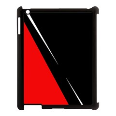 Black And Red Design Apple Ipad 3/4 Case (black) by Valentinaart