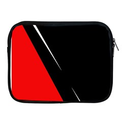 Black And Red Design Apple Ipad 2/3/4 Zipper Cases by Valentinaart