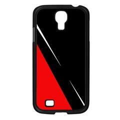 Black And Red Design Samsung Galaxy S4 I9500/ I9505 Case (black) by Valentinaart