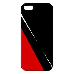 Black And Red Design Iphone 5s/ Se Premium Hardshell Case by Valentinaart