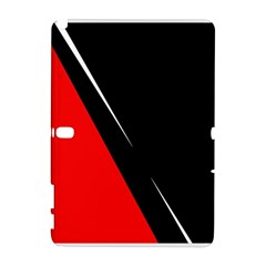 Black And Red Design Samsung Galaxy Note 10 1 (p600) Hardshell Case by Valentinaart