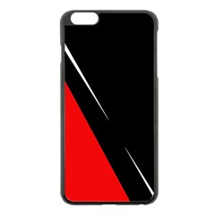 Black And Red Design Apple Iphone 6 Plus/6s Plus Black Enamel Case by Valentinaart