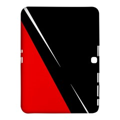 Black And Red Design Samsung Galaxy Tab 4 (10 1 ) Hardshell Case  by Valentinaart
