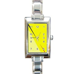 Yellow Design Rectangle Italian Charm Watch by Valentinaart
