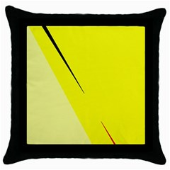 Yellow Design Throw Pillow Case (black) by Valentinaart