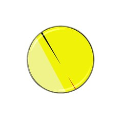 Yellow Design Hat Clip Ball Marker by Valentinaart