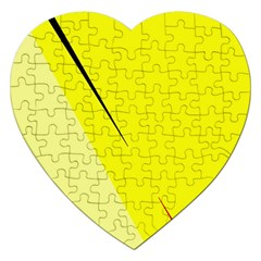 Yellow Design Jigsaw Puzzle (heart) by Valentinaart