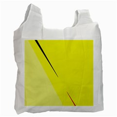 Yellow Design Recycle Bag (two Side)  by Valentinaart