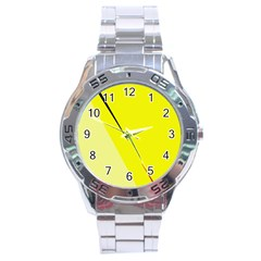 Yellow Design Stainless Steel Analogue Watch by Valentinaart