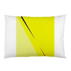 Yellow Design Pillow Case (two Sides) by Valentinaart