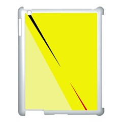 Yellow Design Apple Ipad 3/4 Case (white) by Valentinaart