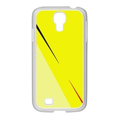 Yellow Design Samsung Galaxy S4 I9500/ I9505 Case (white) by Valentinaart
