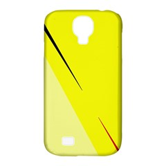 Yellow Design Samsung Galaxy S4 Classic Hardshell Case (pc+silicone) by Valentinaart