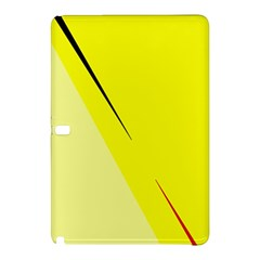 Yellow Design Samsung Galaxy Tab Pro 12 2 Hardshell Case by Valentinaart