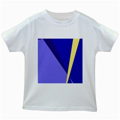 Geometrical Abstraction Kids White T Shirts