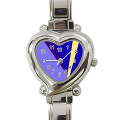 Geometrical Abstraction Heart Italian Charm Watch by Valentinaart