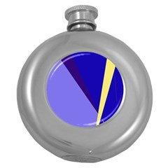 Geometrical Abstraction Round Hip Flask (5 Oz) by Valentinaart