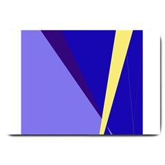 Geometrical Abstraction Large Doormat  by Valentinaart