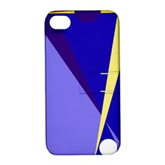 Geometrical Abstraction Apple Iphone 4/4s Hardshell Case With Stand by Valentinaart
