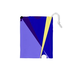 Geometrical Abstraction Drawstring Pouches (small)  by Valentinaart