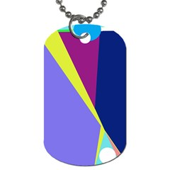 Geometrical Abstraction Dog Tag (two Sides) by Valentinaart