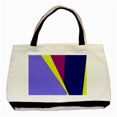 Geometrical Abstraction Basic Tote Bag (two Sides) by Valentinaart
