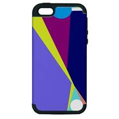 Geometrical Abstraction Apple Iphone 5 Hardshell Case (pc+silicone) by Valentinaart