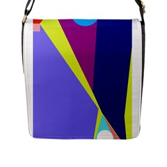 Geometrical Abstraction Flap Messenger Bag (l)  by Valentinaart