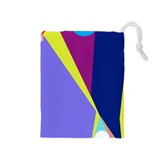 Geometrical Abstraction Drawstring Pouches (medium)  by Valentinaart