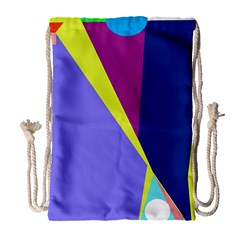 Geometrical Abstraction Drawstring Bag (large) by Valentinaart