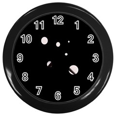 White Dots Wall Clocks (black) by Valentinaart