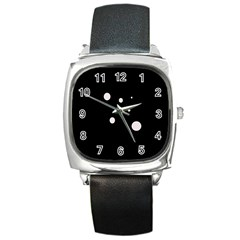 White Dots Square Metal Watch by Valentinaart
