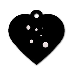 White Dots Dog Tag Heart (one Side) by Valentinaart