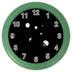 White Dots Color Wall Clocks
