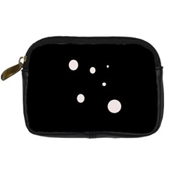 White Dots Digital Camera Cases by Valentinaart