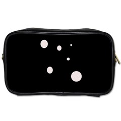 White Dots Toiletries Bags 2 Side by Valentinaart