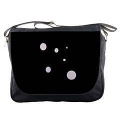 White Dots Messenger Bags by Valentinaart