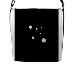White Dots Flap Messenger Bag (l)  by Valentinaart